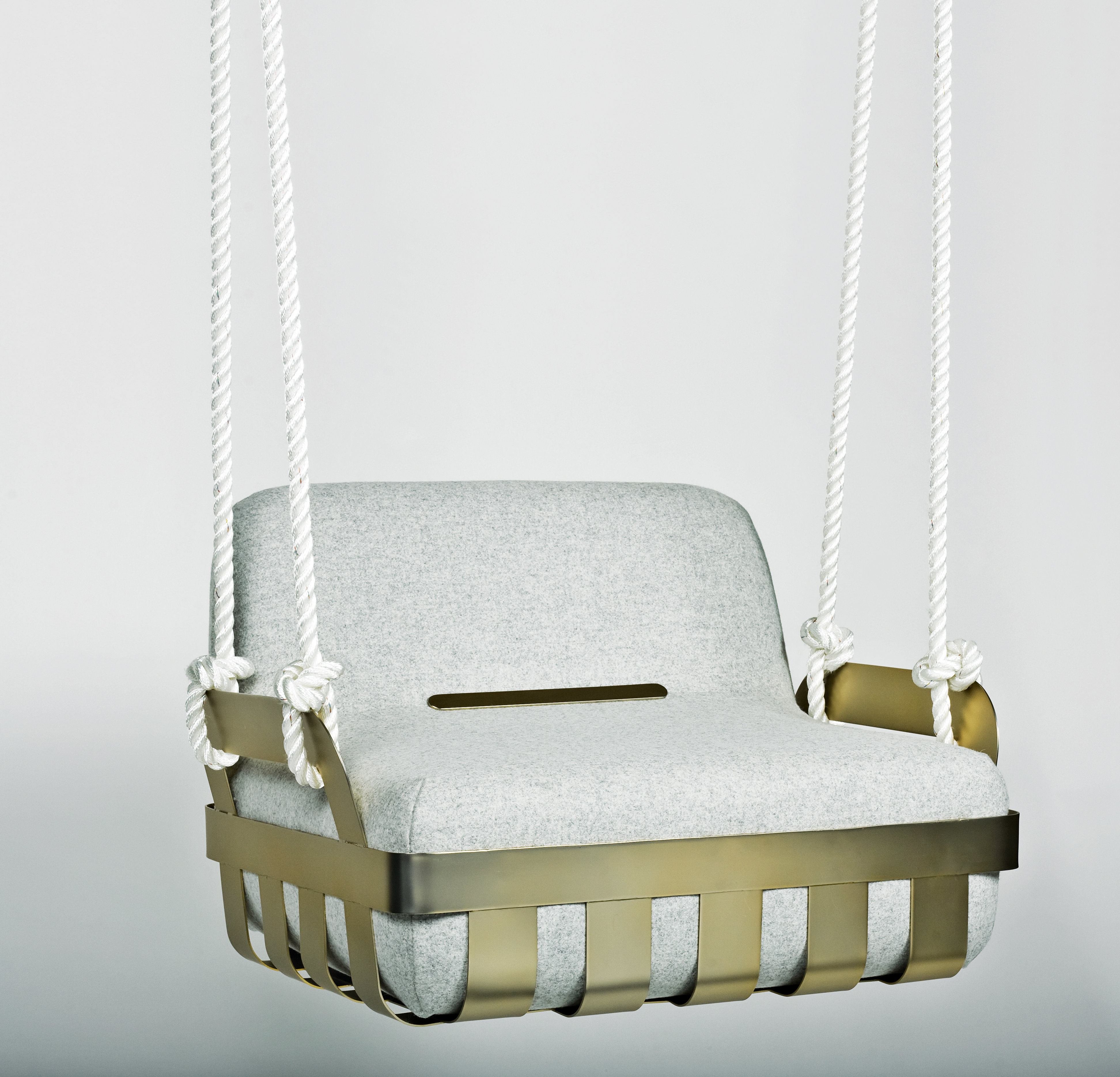 Modern swinging chair.