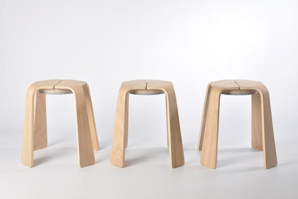 Bootcut Stools by Chris Hardy