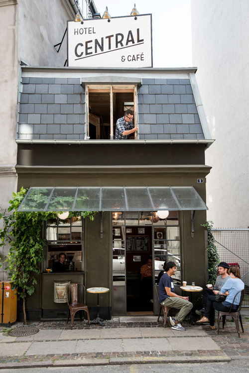 Exterior of Hotel Central & Cafe in Copenhagen