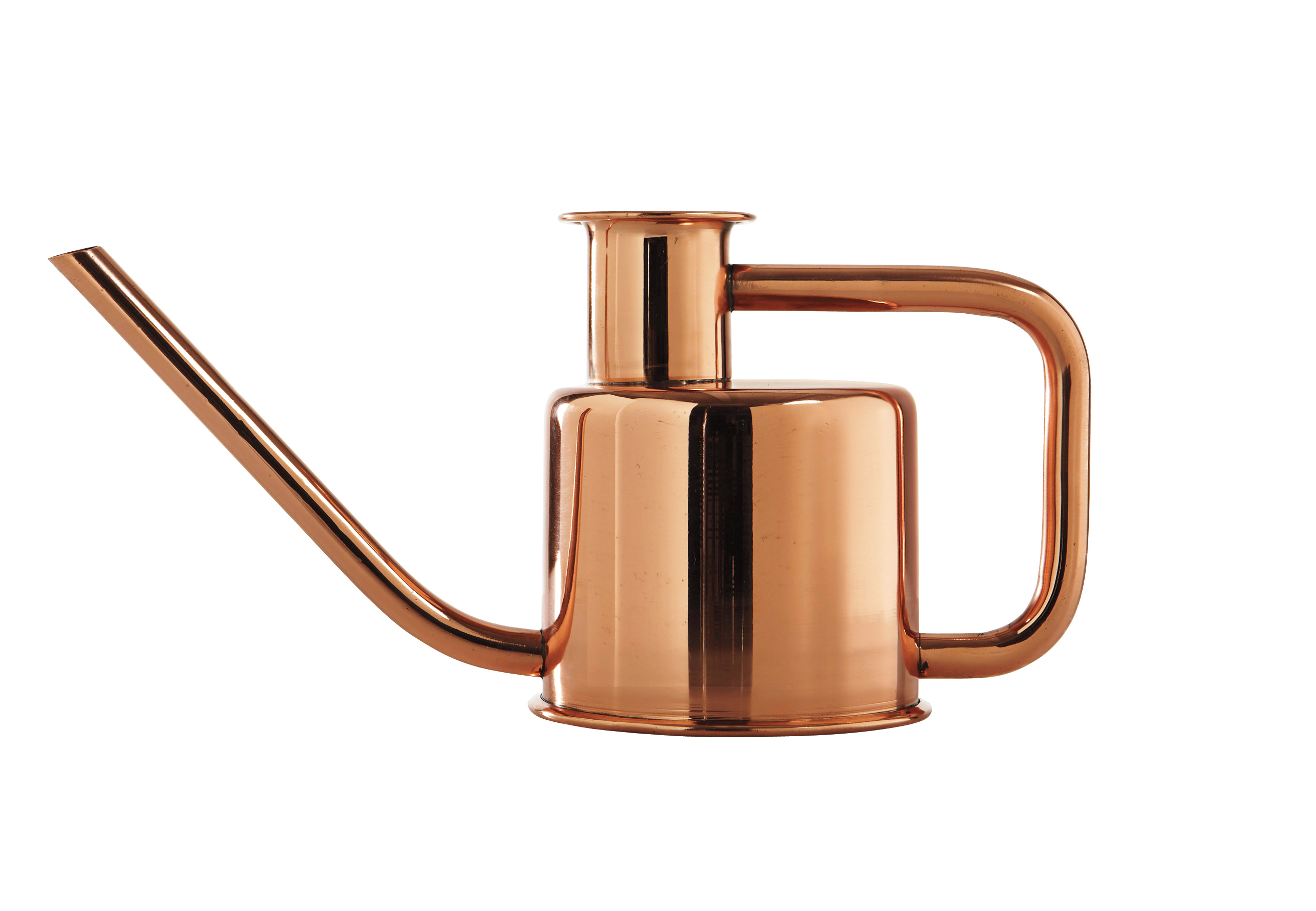 Modern metallic watering can,.