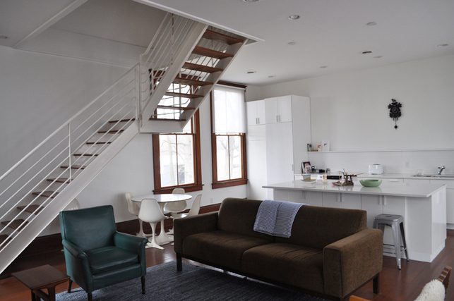 wisconsin schoolhouse living room