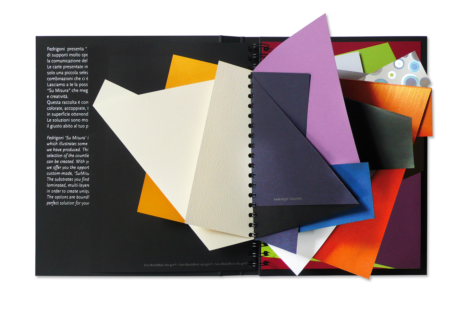 Limited edition Fedrigoni special papers sample book