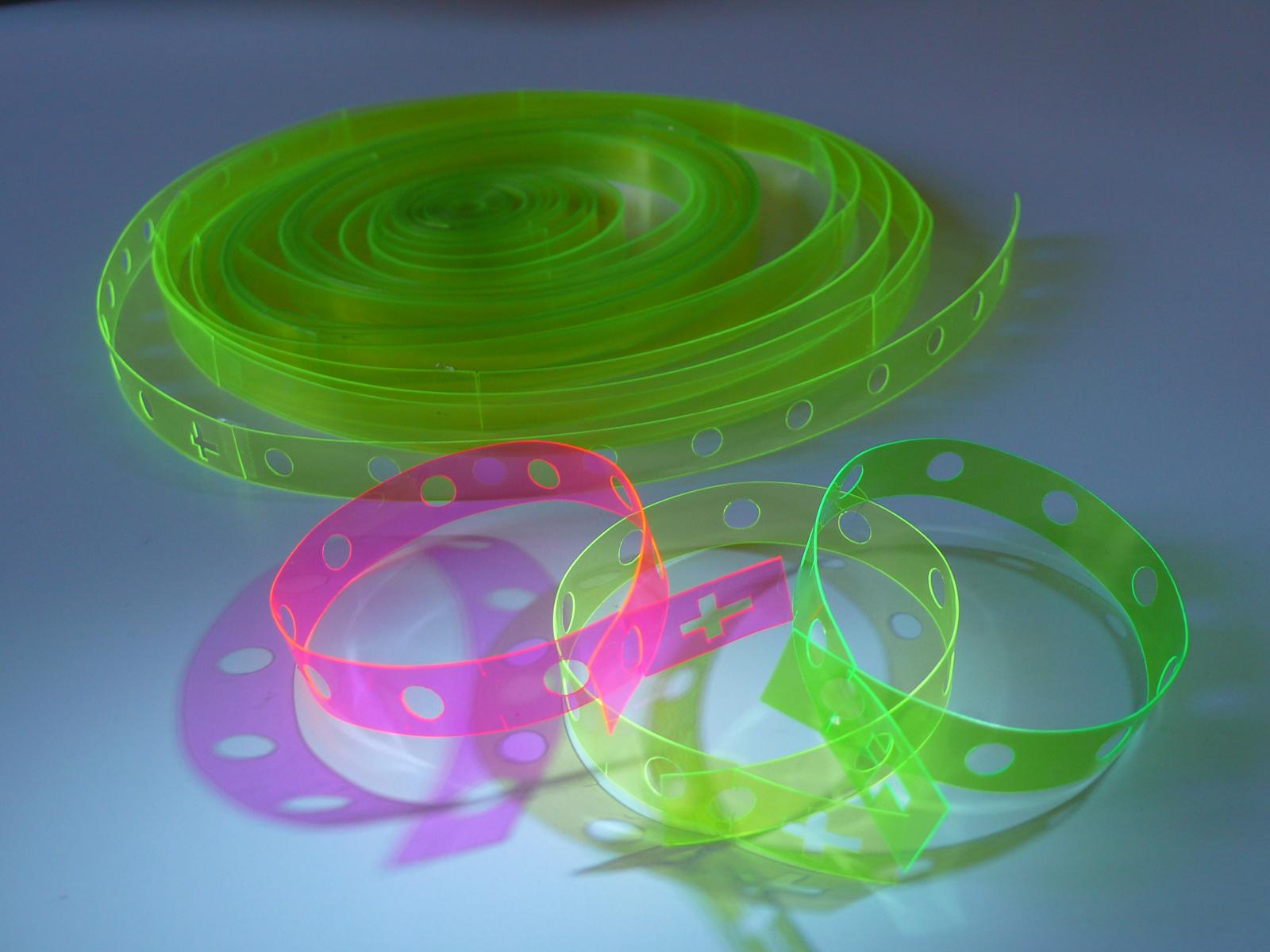 Neon rosary bracelets