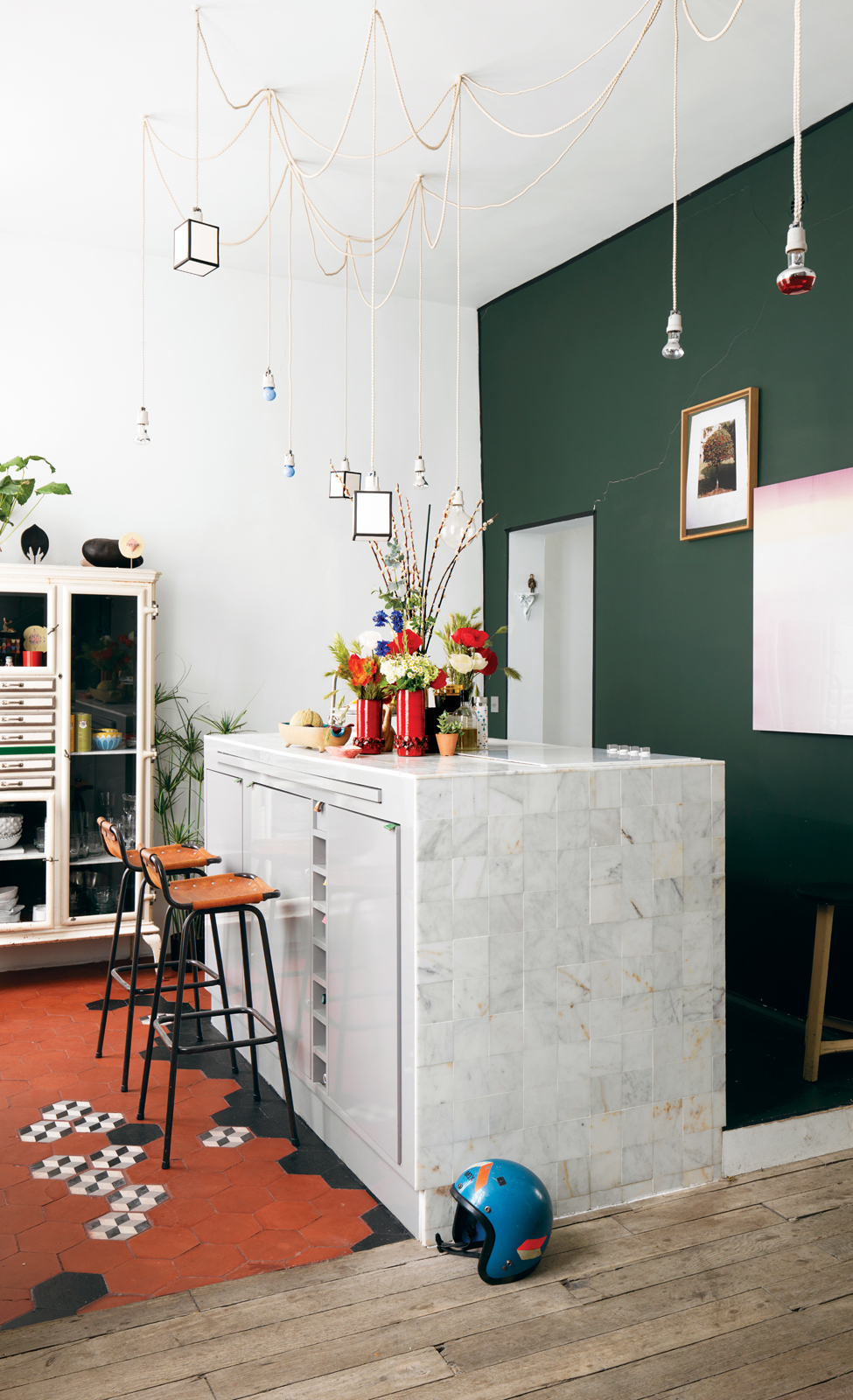 Modern kitchen island.