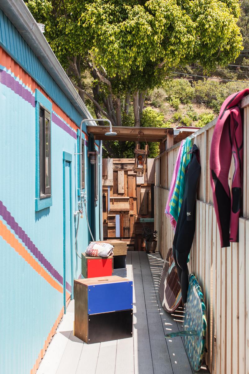 trailer, malibu, beach, small