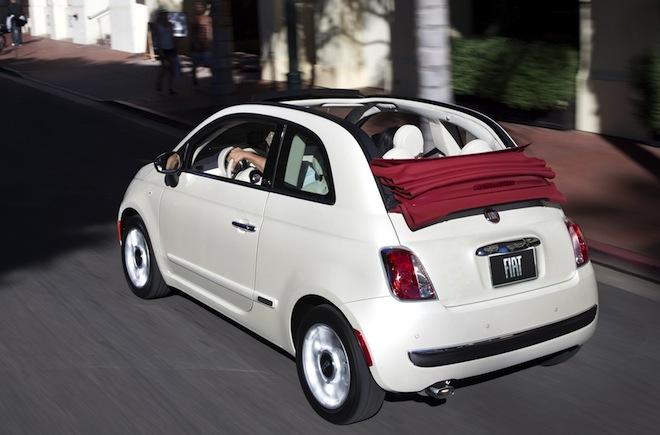 White 2013 Fiat 500 car exterior
