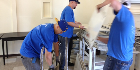 ANEW installation crew at Samuel Gompers Middle School