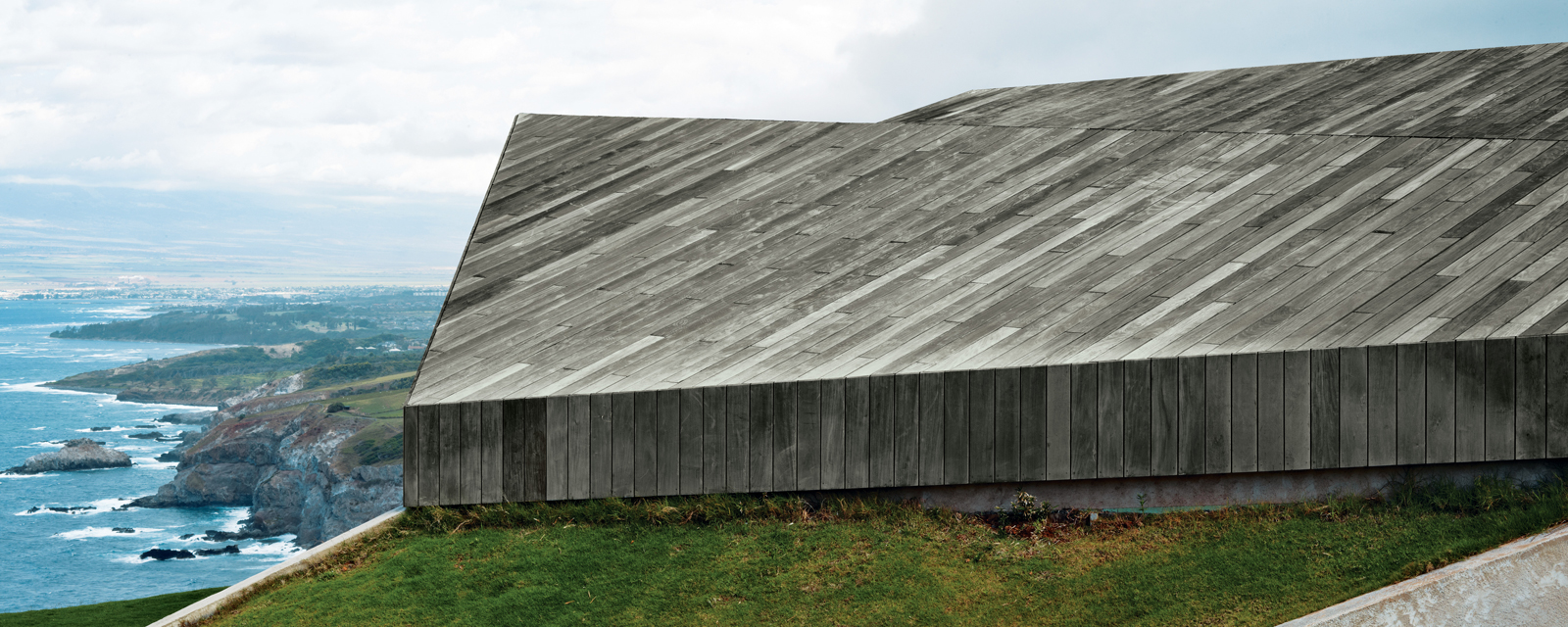 Roof of Clifftop House.