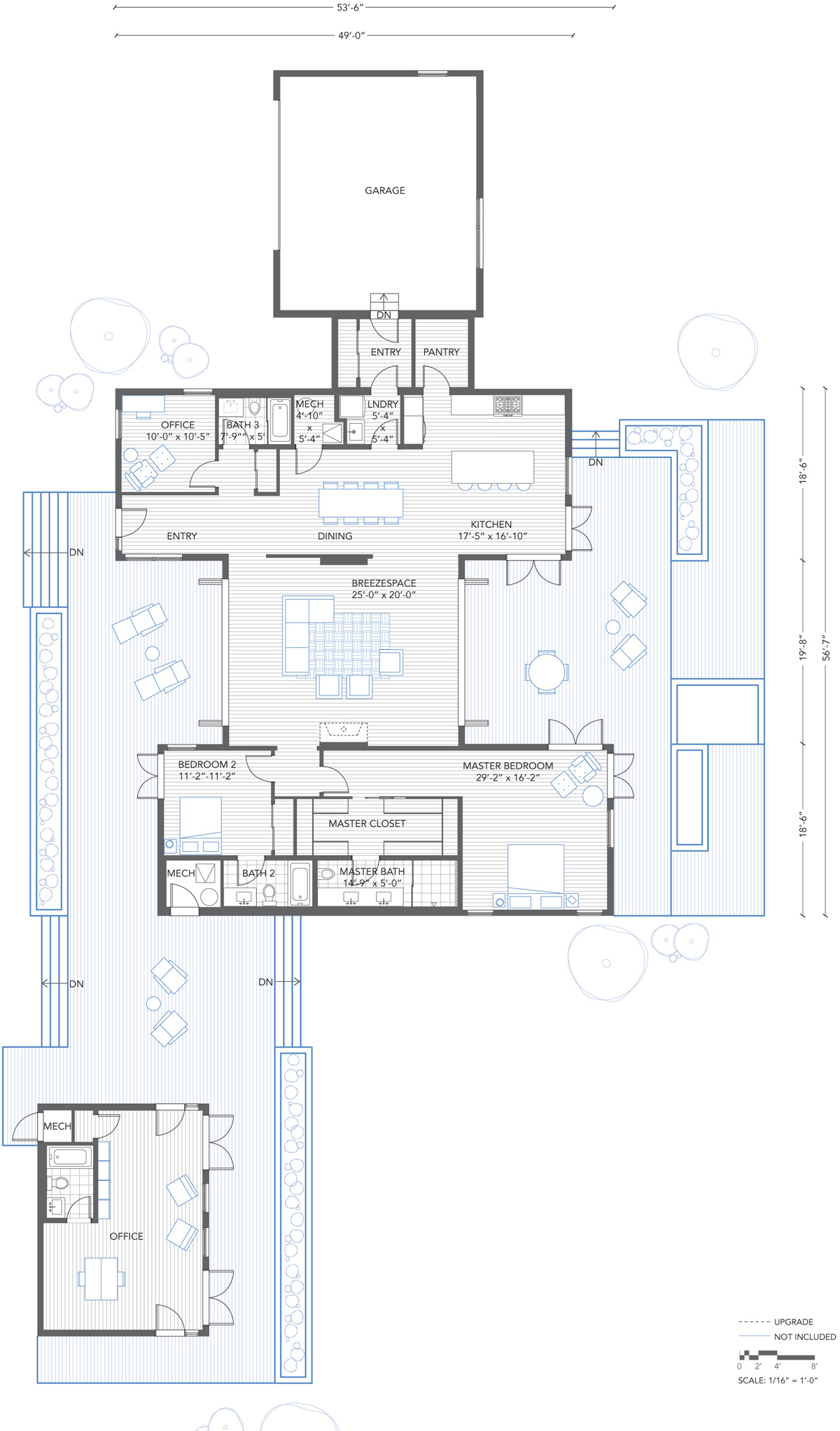 Floorplan for Southern California Breezehouse by Blu Homes