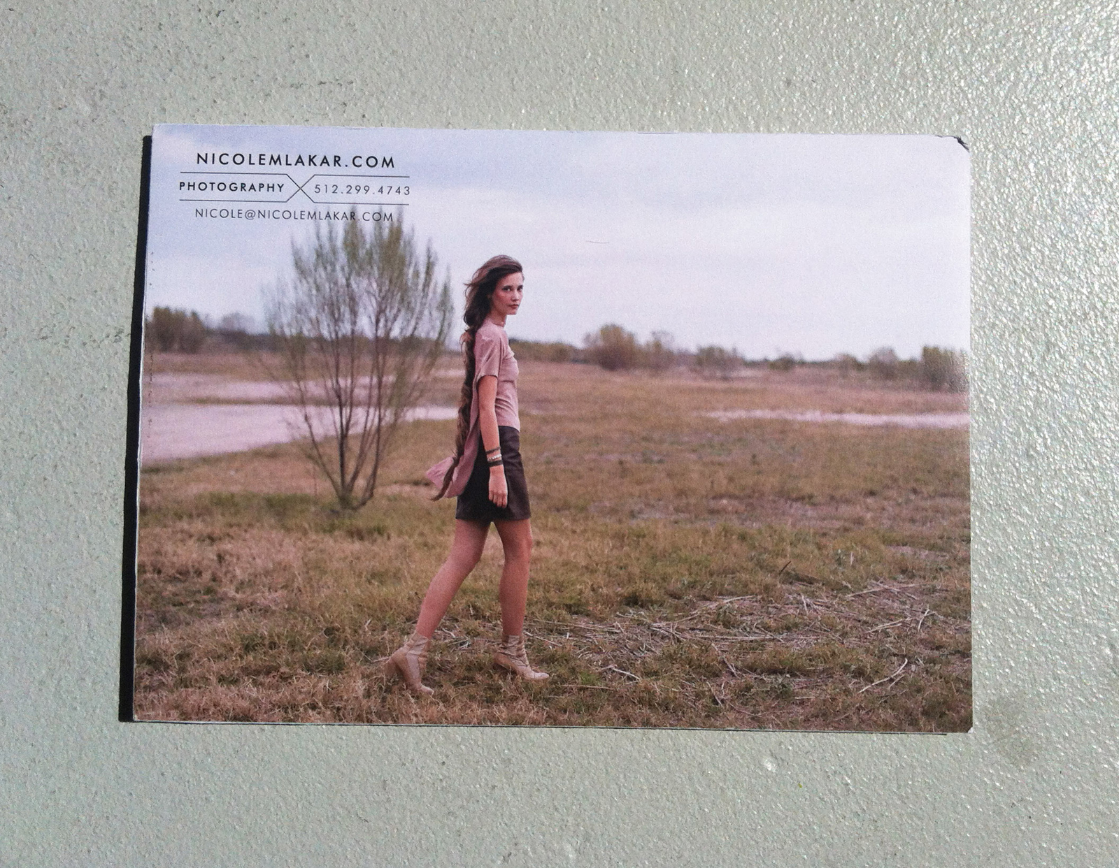 Front cover to Nicole Mlakar from Austin, Texas's Promo Daily package envelope photography work.