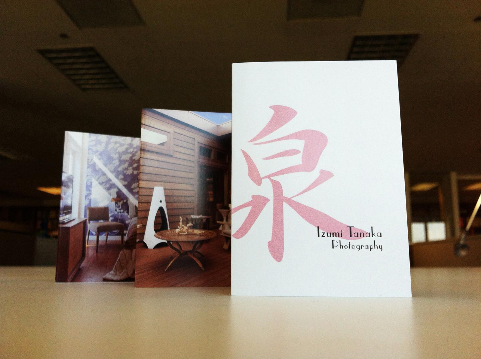 Spread-out photography promo of Los Angeles based interior photographer Izumi Tanaka. interiors lifestyle
