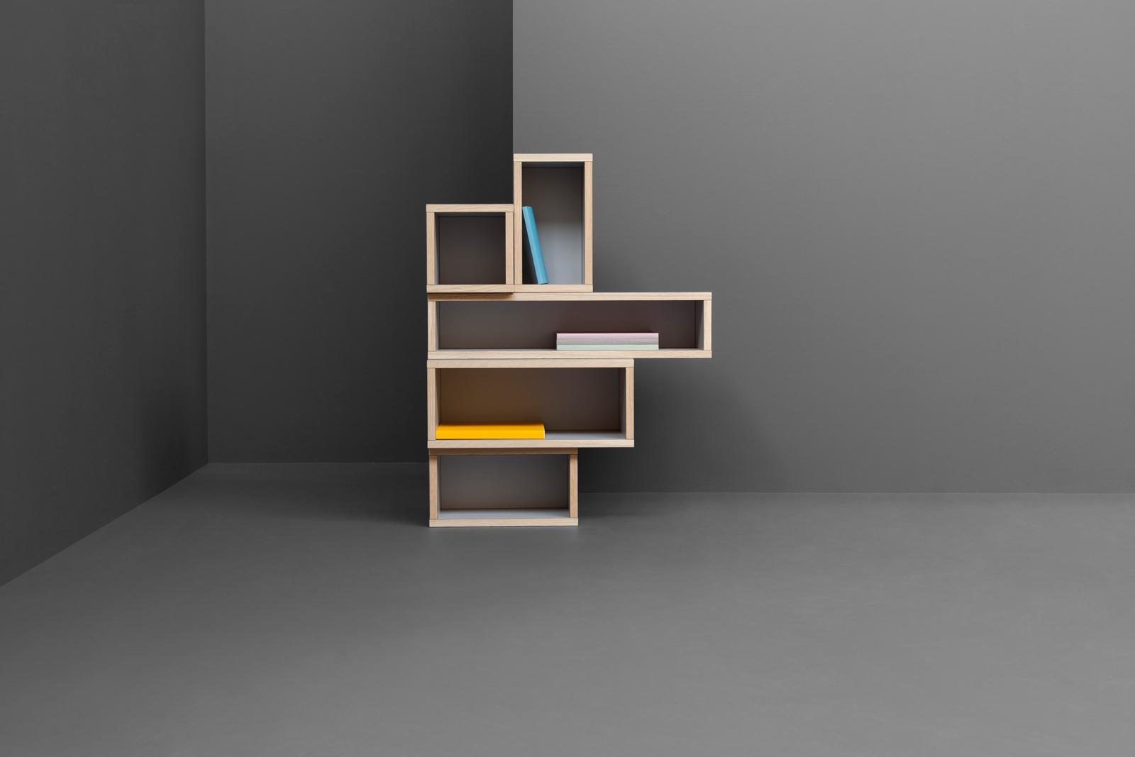 modern wood shelves by Derek Welsh