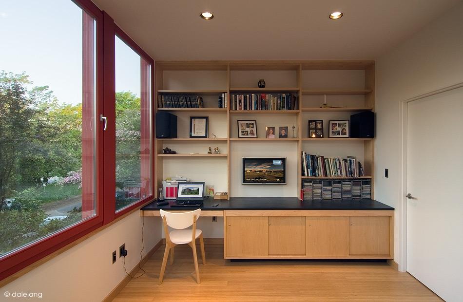 Modern second-floor office