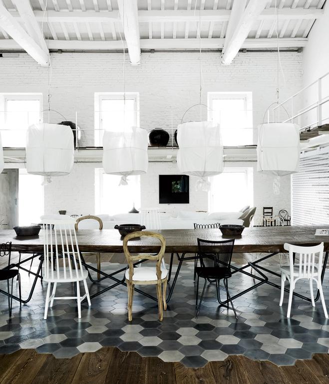 renovated italian dining room