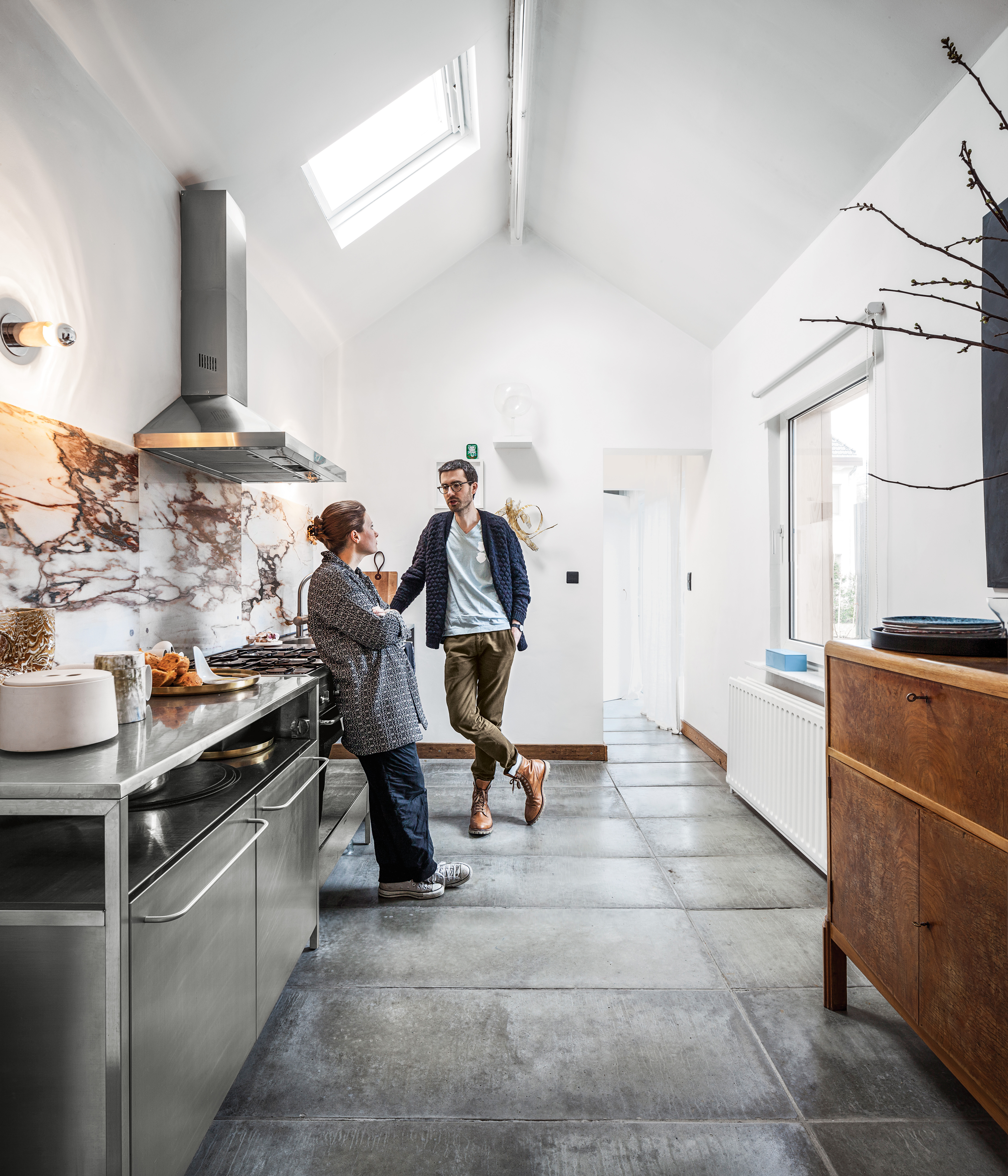belgian renovation interior kitchen