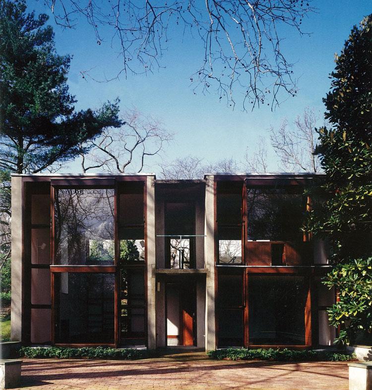 Louis Kahn American architecture landmark Philadelphia Esherick House