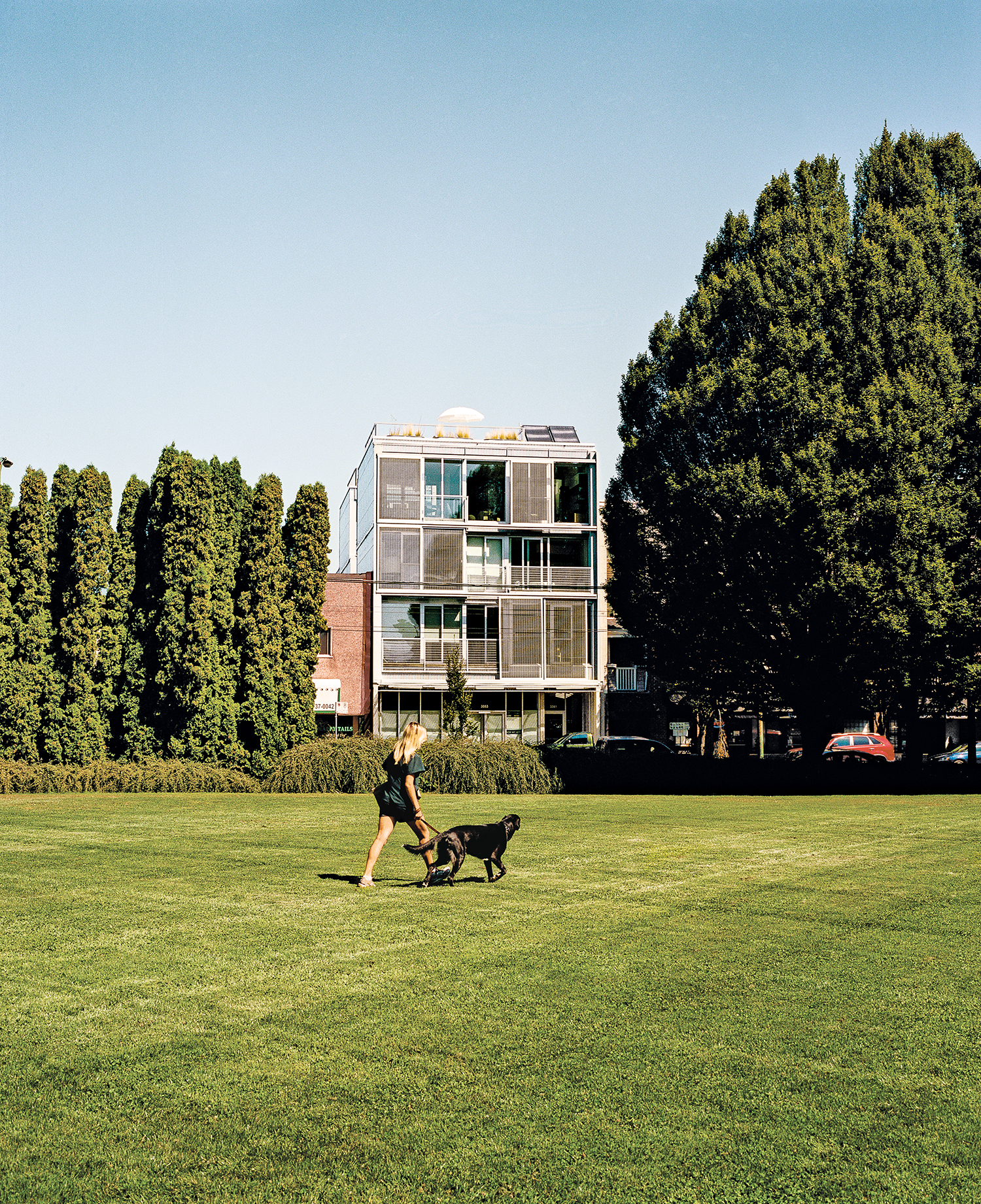 modern multiunit prefab exterior in Vancouver