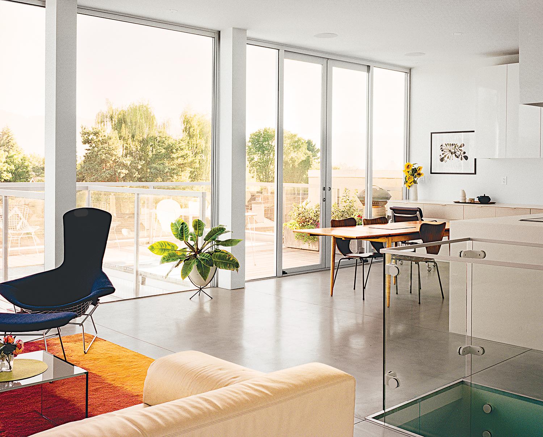 modern multiunit prefab in Vancouver interior living room
