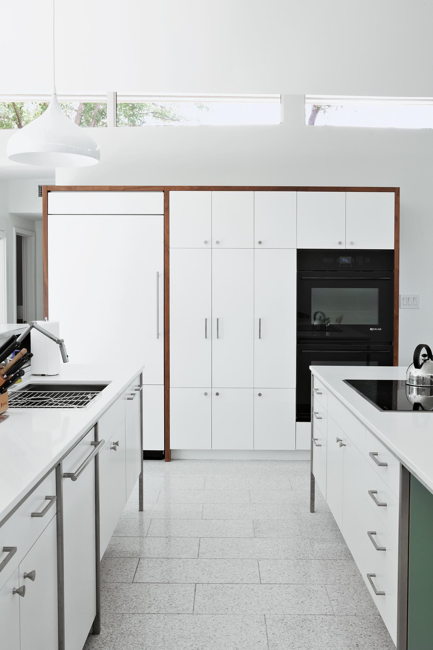 renovated modern home in Austin interior kitchen