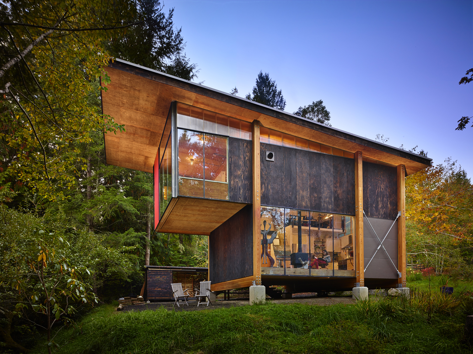 compact cabin in washington by olson kundig architects