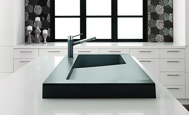 granite, sink, stone