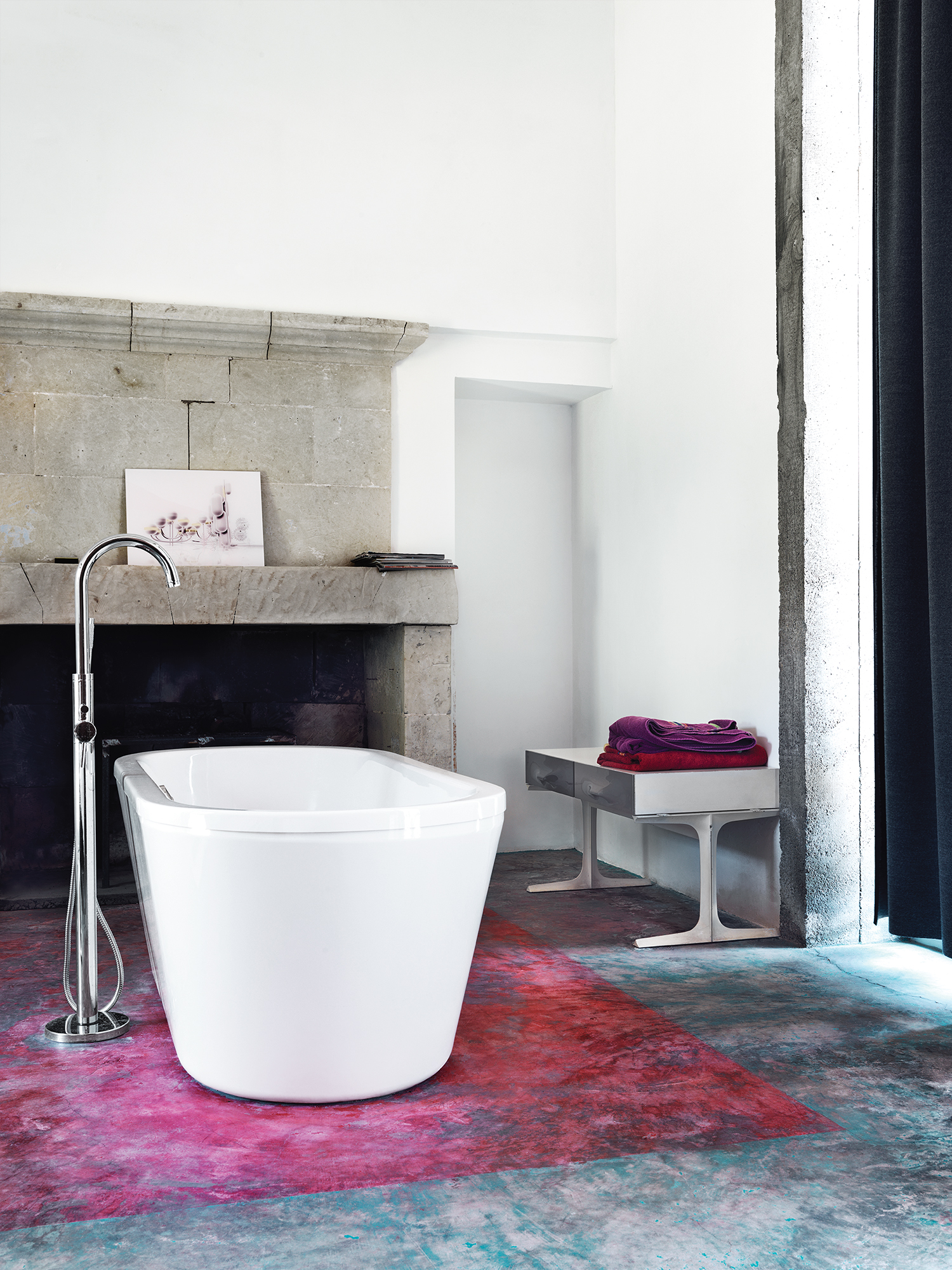 bathtub, bathroom, farmhouse, Matali Crasset