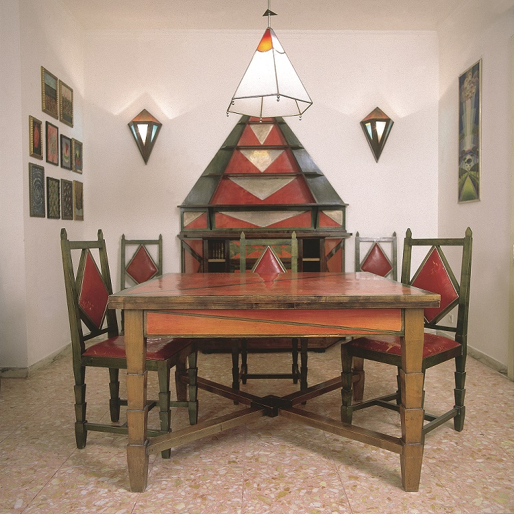 Cimino Home Dining Room Set (Sala da pranzo di casa Cimino), early 1930s from Guggenheim's Italian Futurism Exhibit
