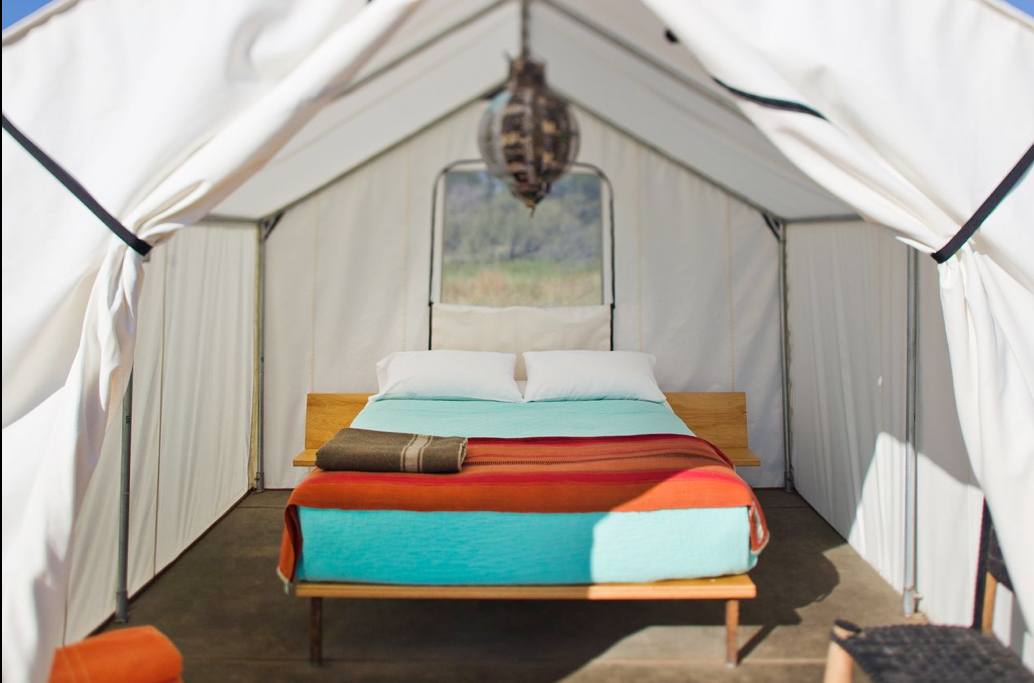 tent, bedroom, bed, turquoise