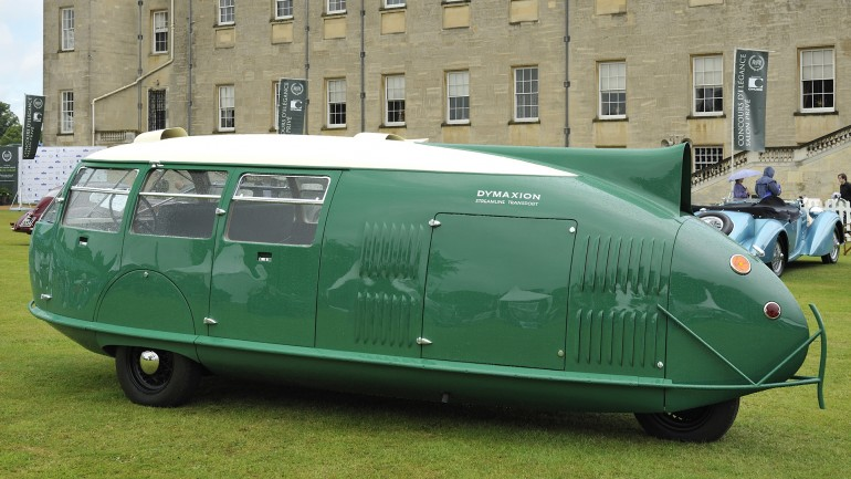 dymaxion car at salon prive