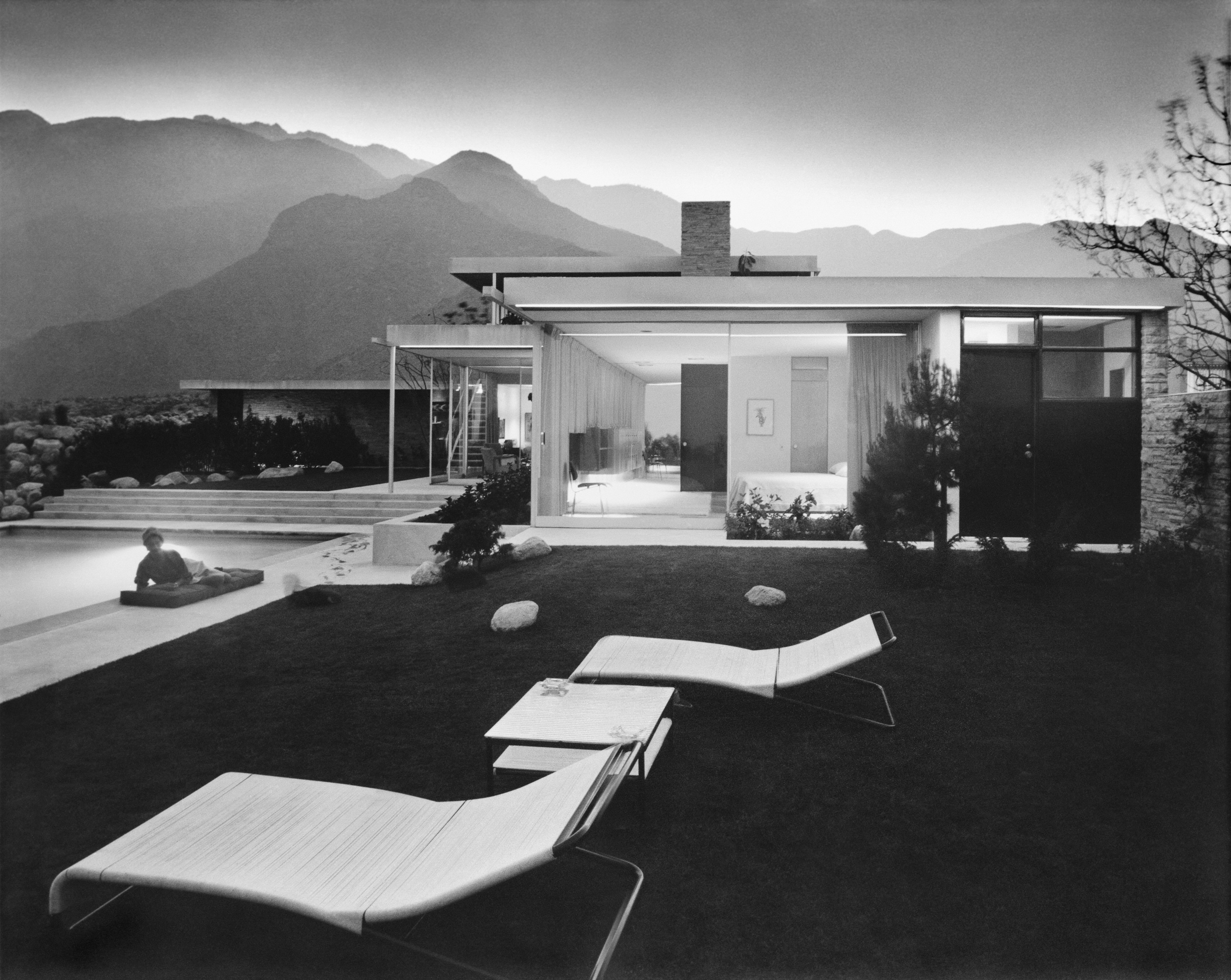 kaufmann house richard neutra photograph patio pool
