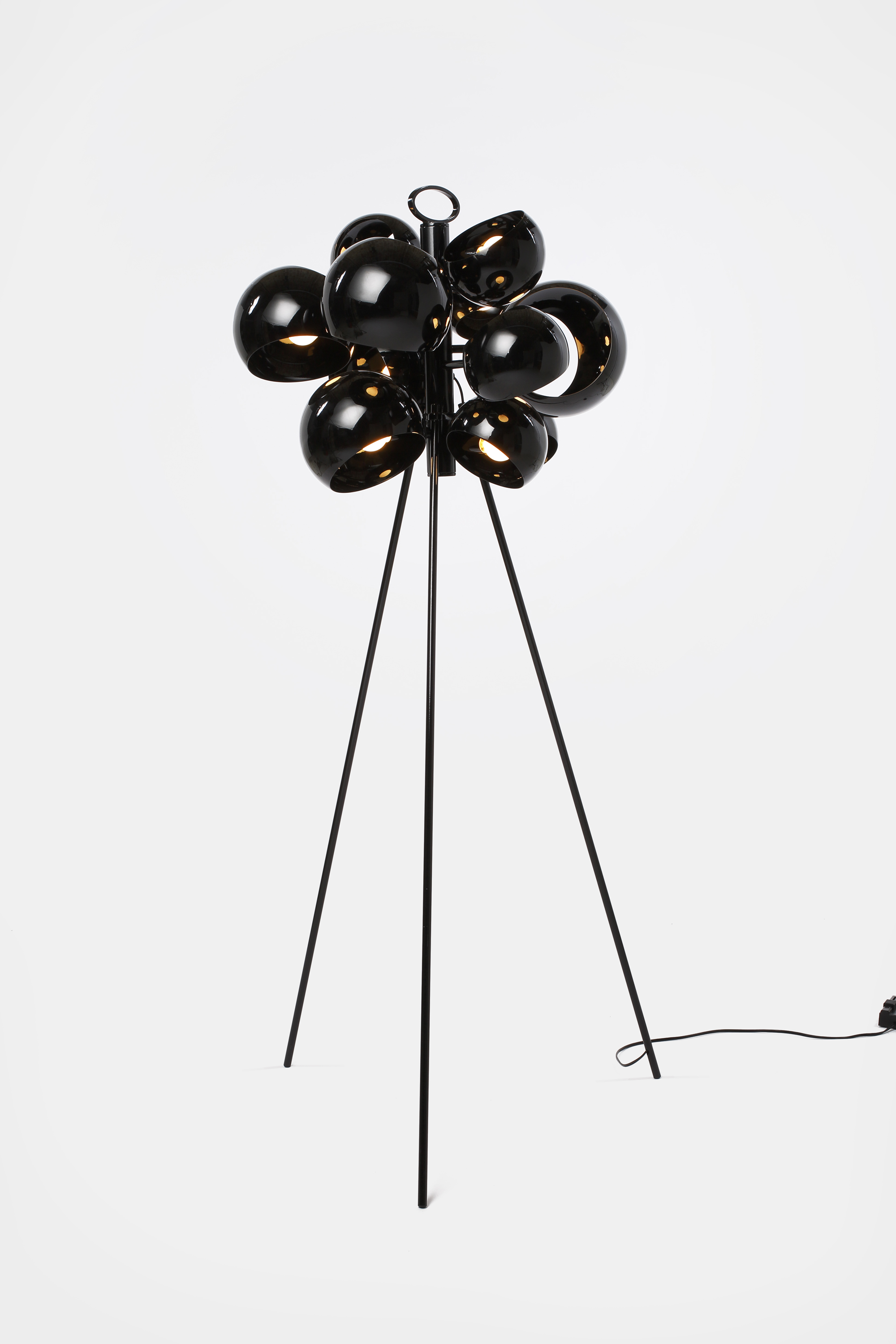 david weeks kopra black chandelier standing lamp