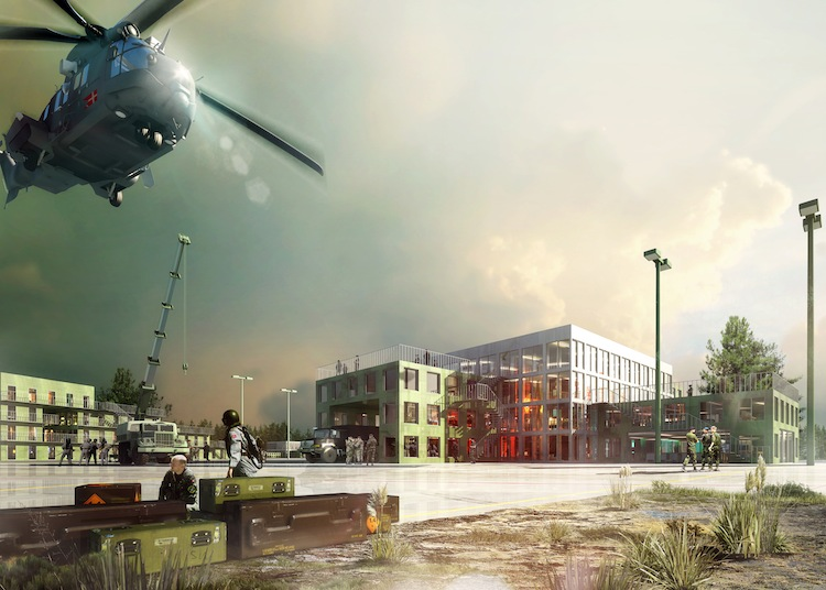 View of Proposed Workshop Building at Aalborg Barracks