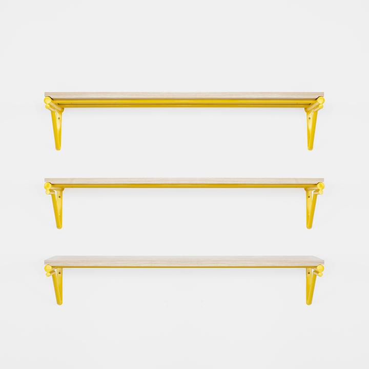 golden shelving unit