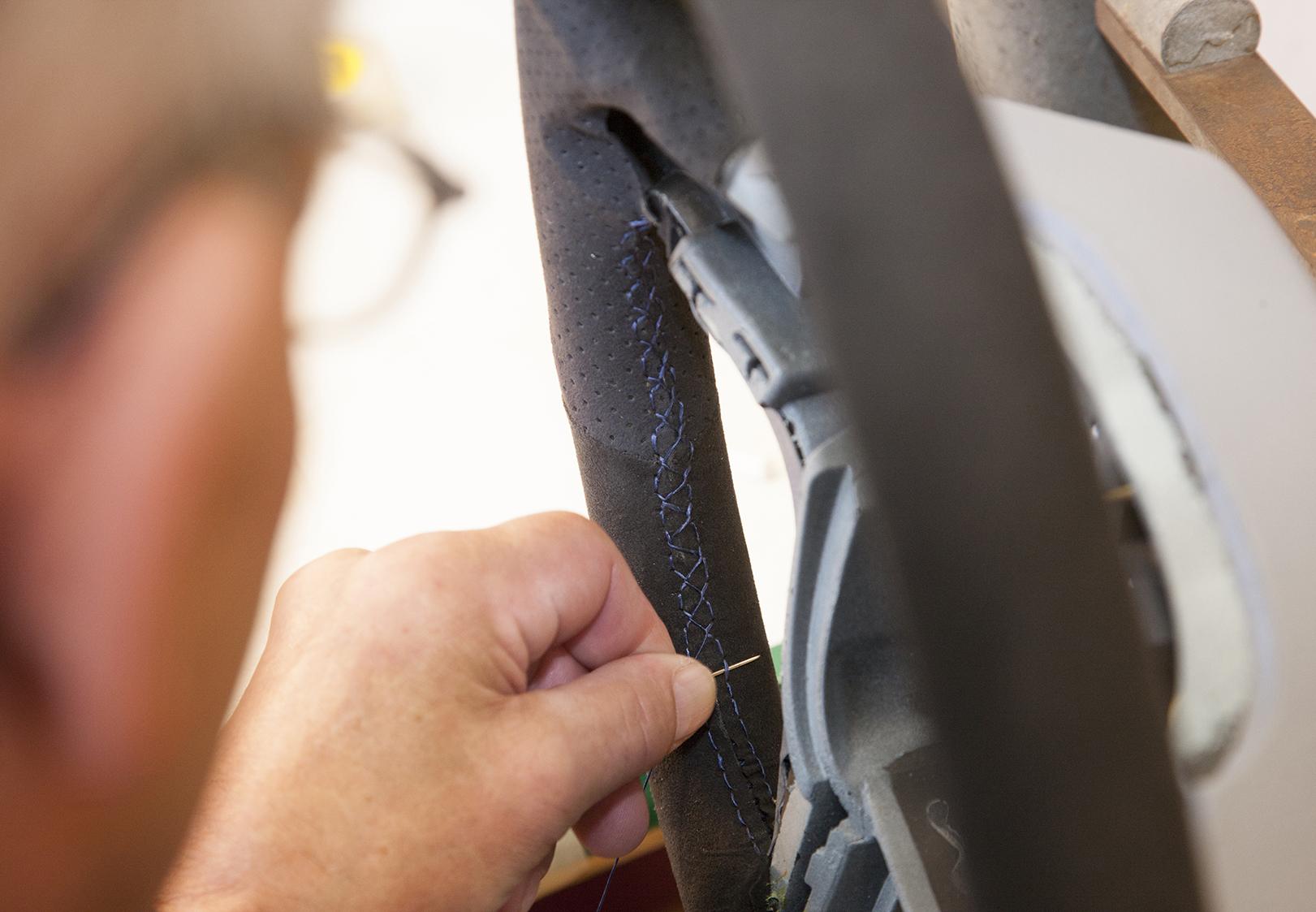 GM Technical Center Pattern Making Steering Wheel Sewer