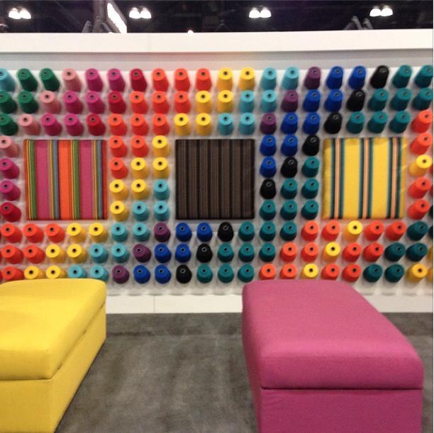 sunbrella rainbow fabrics at dwell on design