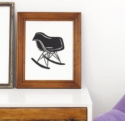 Eames rocker print from Etsy