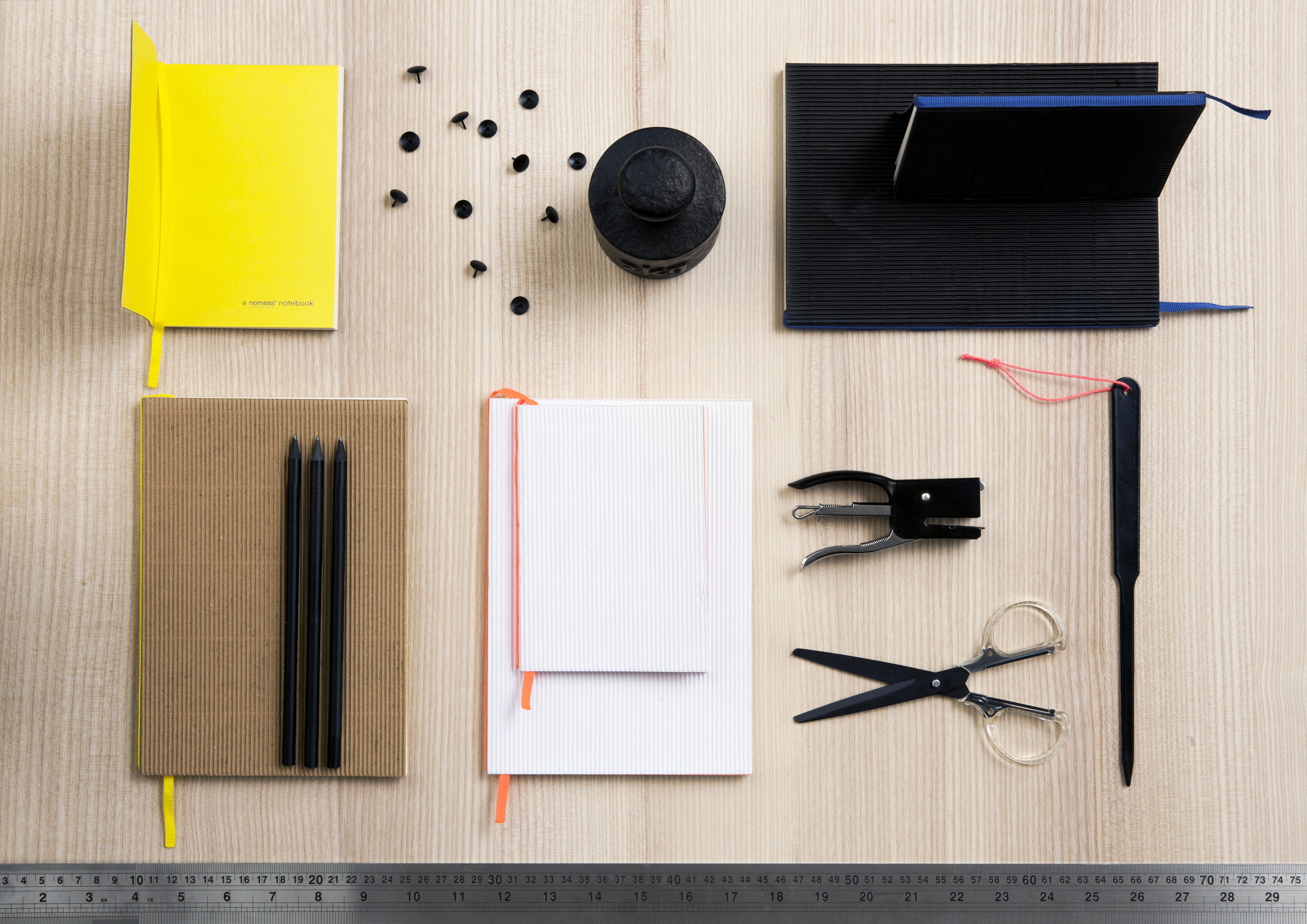 Slim cardboard notebook for the office or commuting