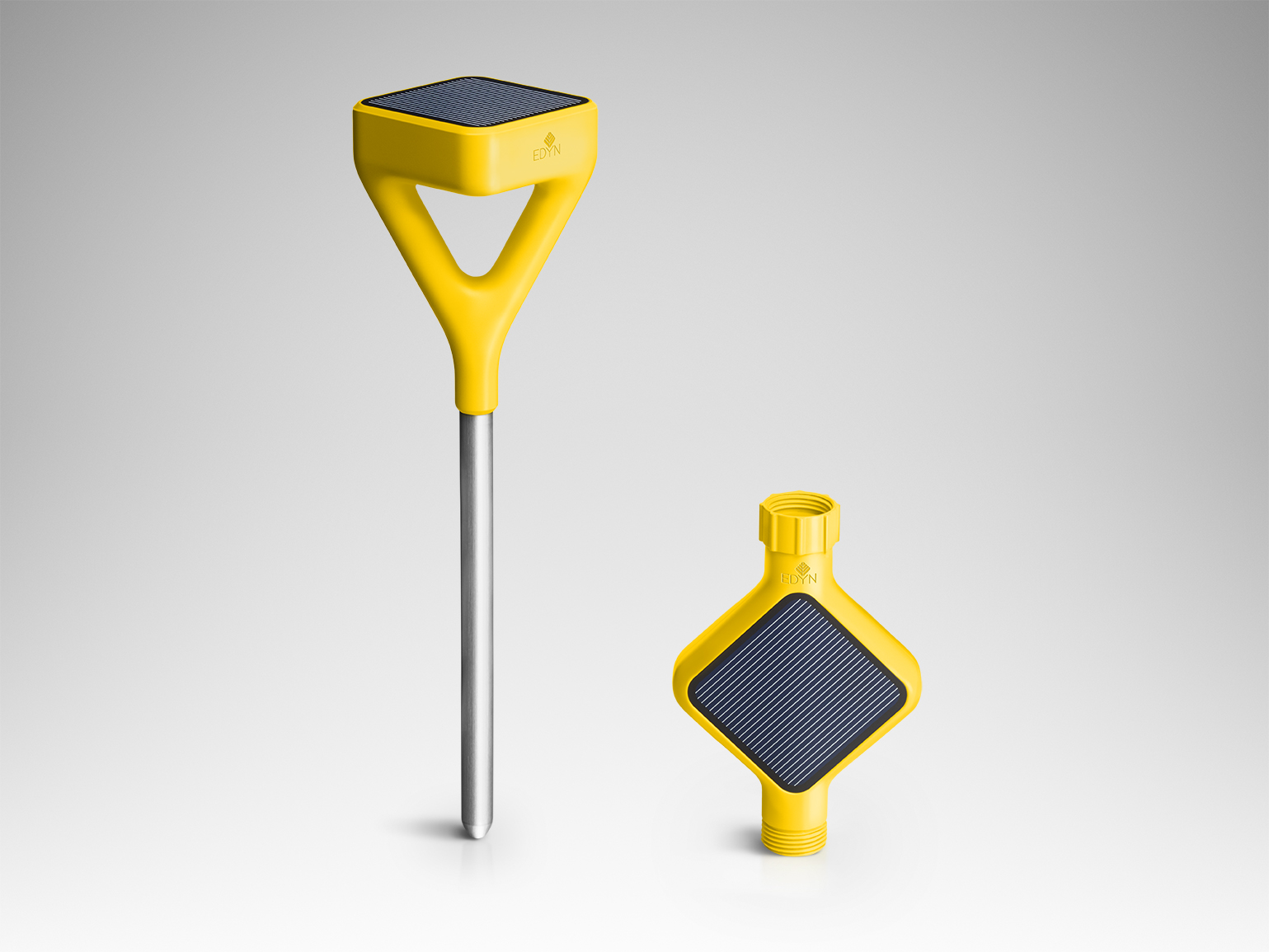 Smart garden devices in yellow