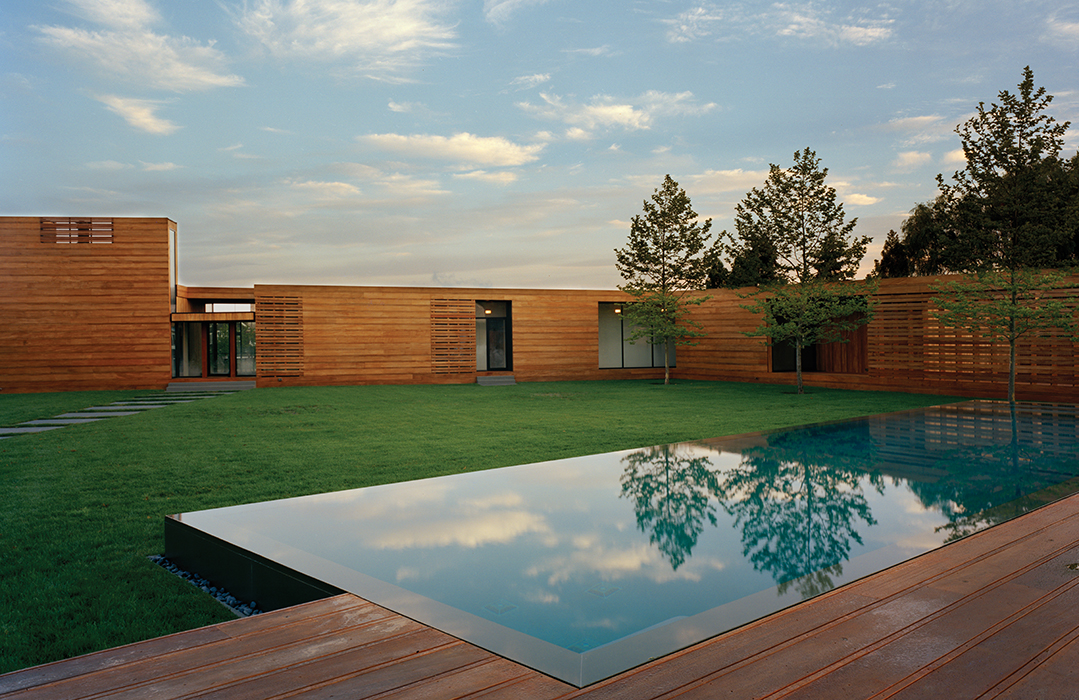 New York home lined with mahogany planks