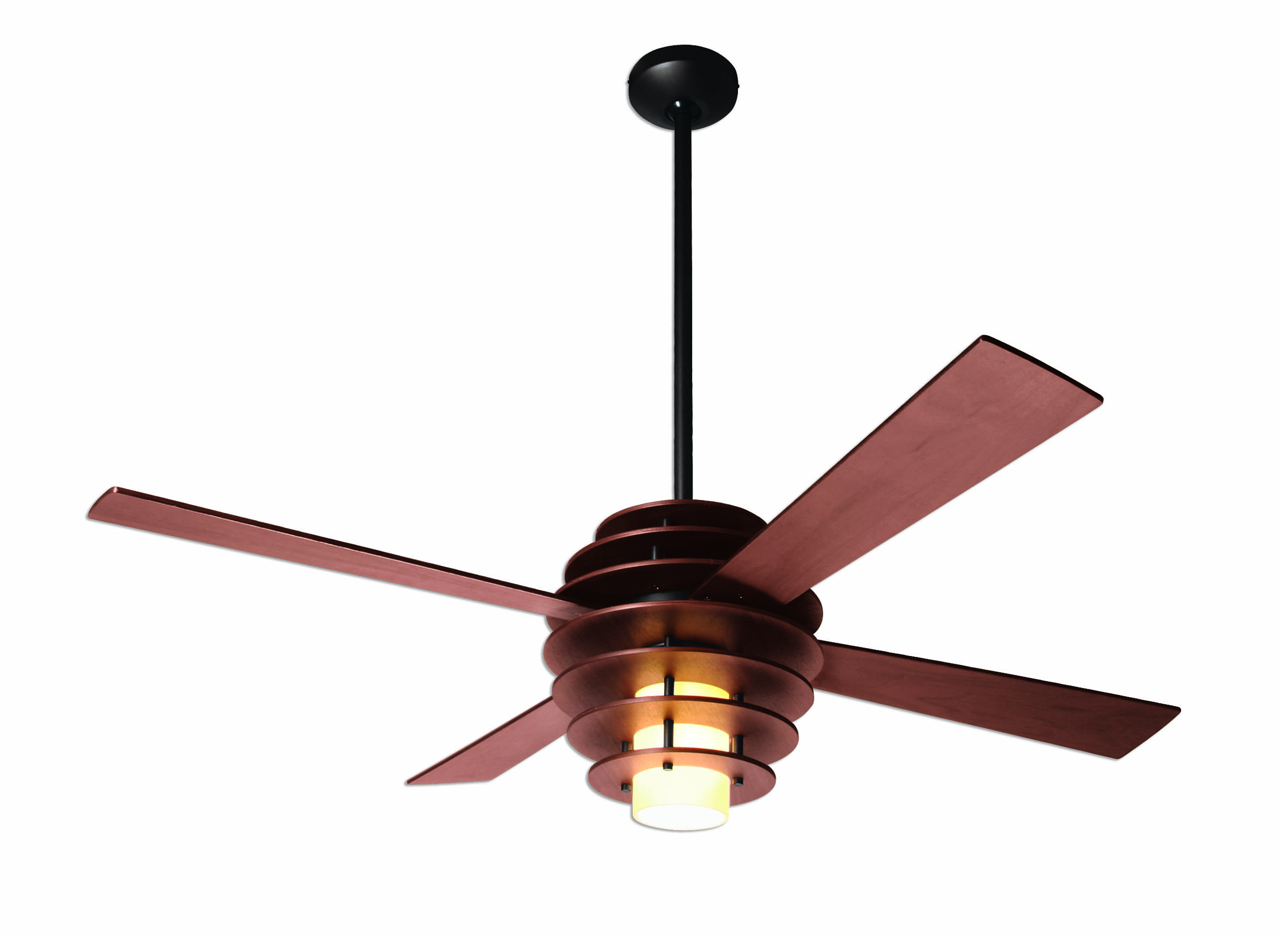 Wooden beehive inspired ceiling fan
