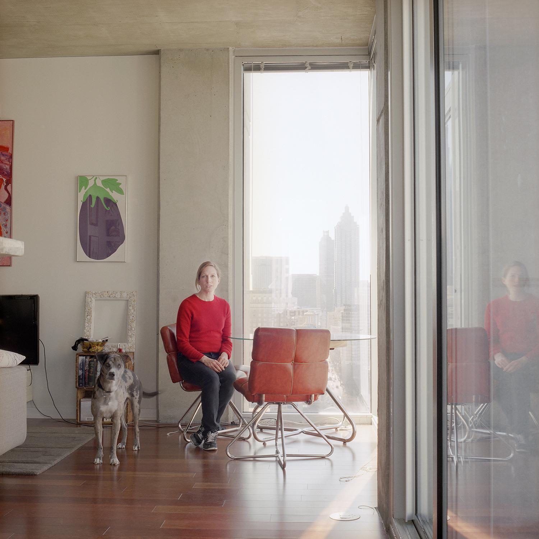 Modern loft living room in Georgia