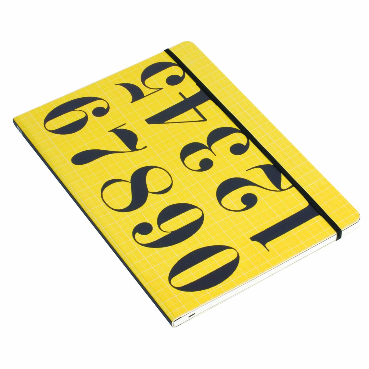 Boldly patterned notebook for desktop and commuting