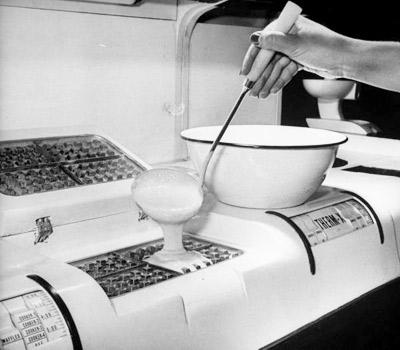 """Life Magazine archive image """"kitchen of tomorrow"""" waffle maker"""