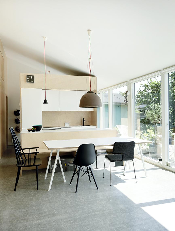 Copenhagen Prefab Kitchen and Dining Area