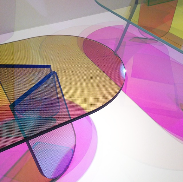 Patricia Urqiola's Shimmer coffee tables for Glas Italia