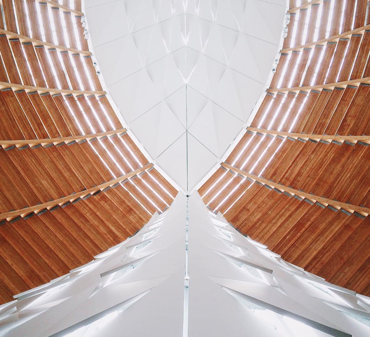 Ceiling of the Cathedral of Christ the Light in Oakland