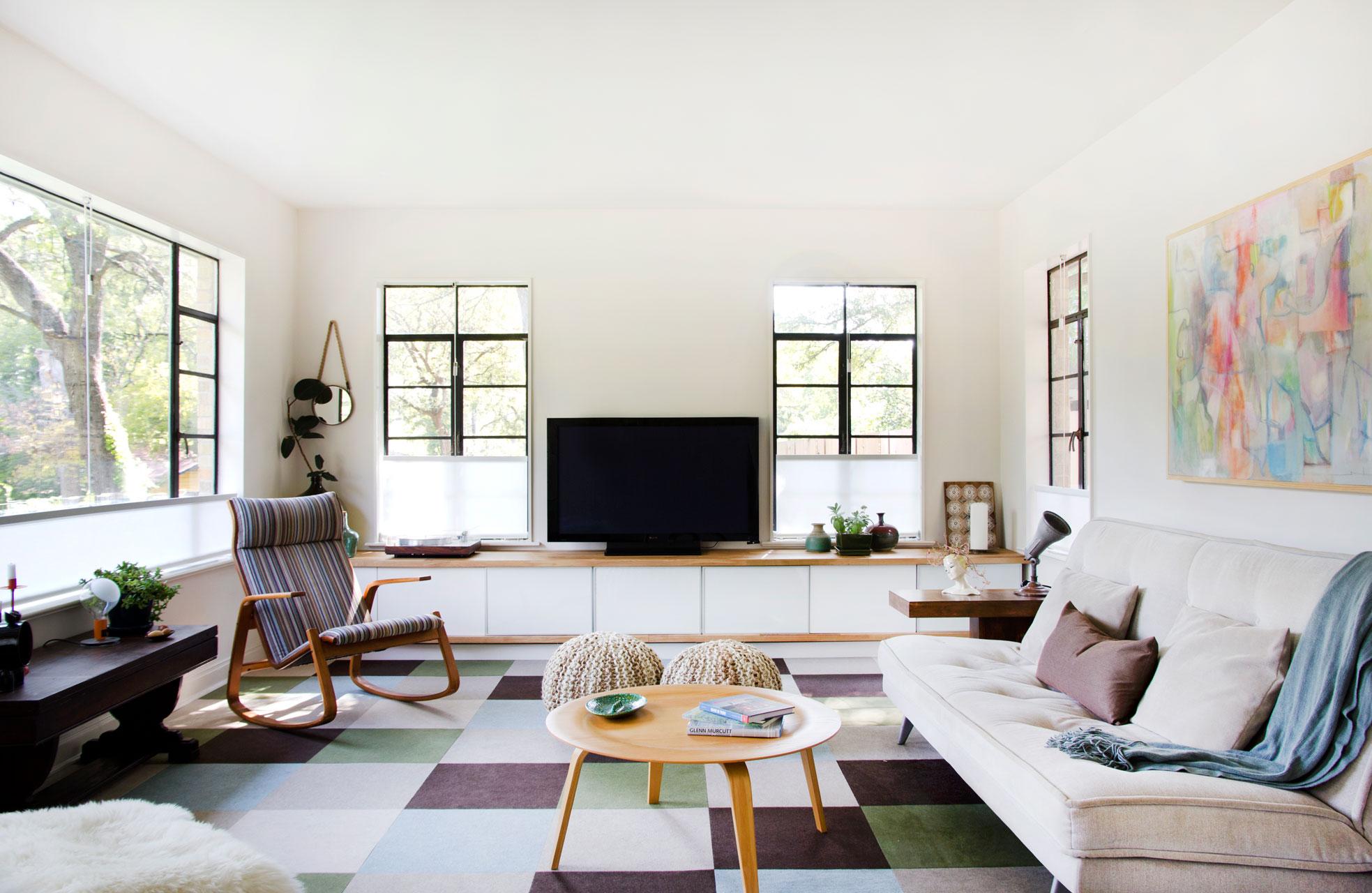 Allison Burke's Austin Home Renovation, Living Room