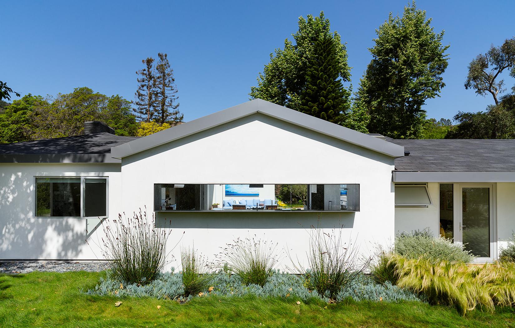 Exterior facade of a Bel Air ranch-style home