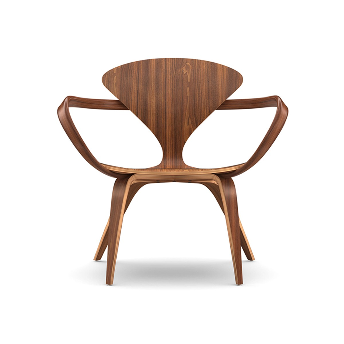 Classic midcentury lounge chair with elegant wood grain
