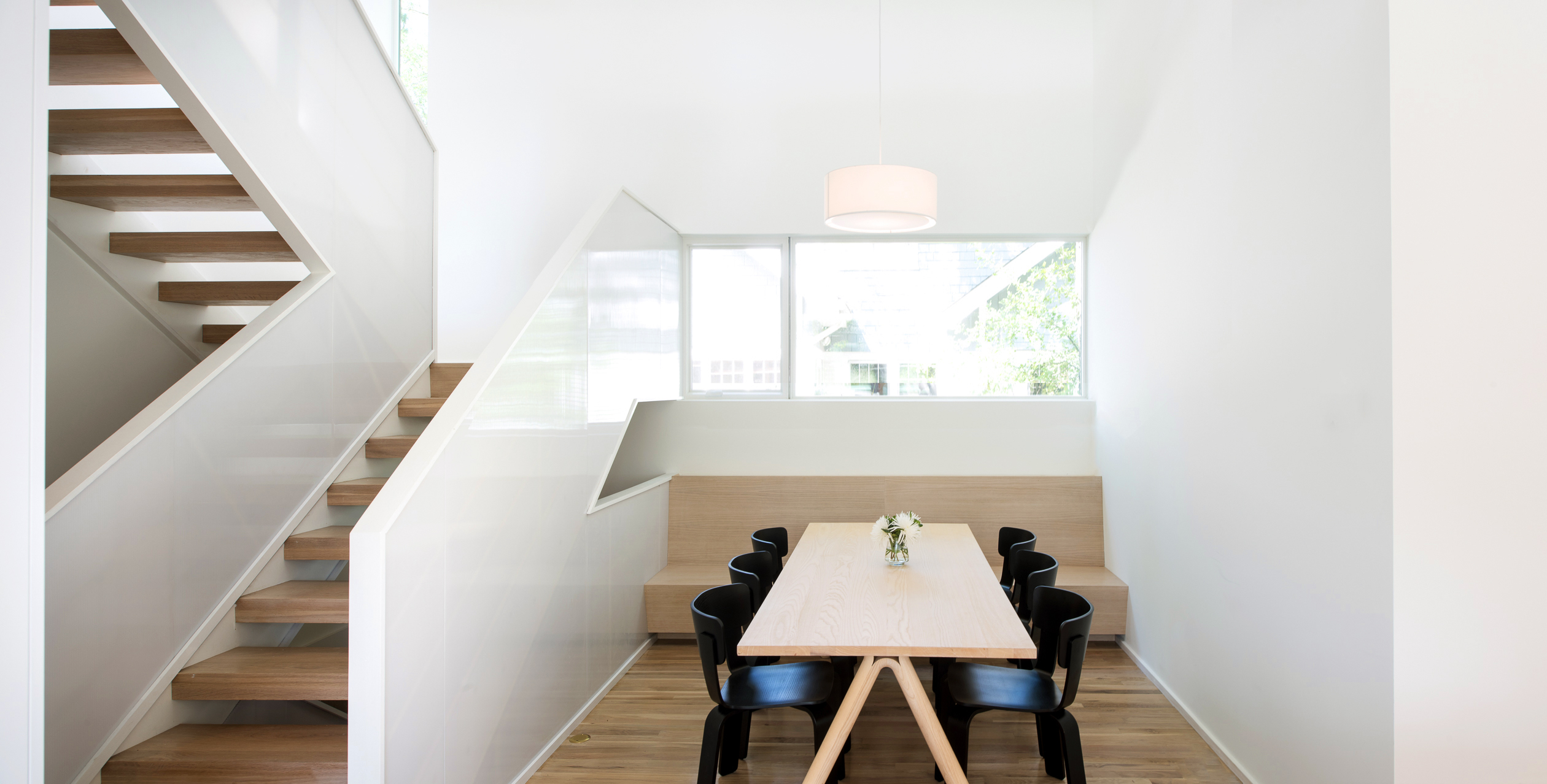 Muuto Split Table and Hem's Bento Chairs in dining room of Saint Paul, MN home by D/O